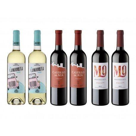 6 botellas vino 2x Verdejo...