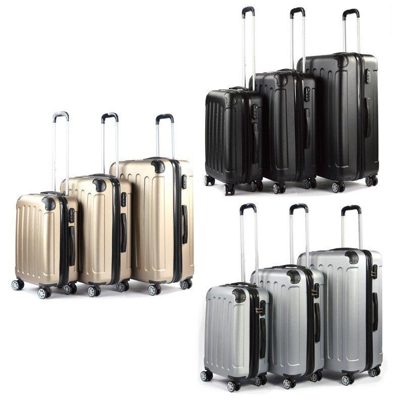 Oswald Bajo mandato archivo  Juego de 3 Maletas Set Trolley ABS Semirigidas Candado 4 Ruedas maleta  cabina
