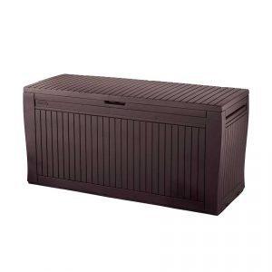 baúl para exterior marrón